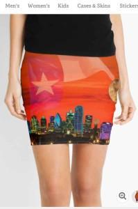 Dallas Skyline Pencil Skirts
