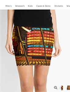 Rainbow Column Pencil Skirt-Ad